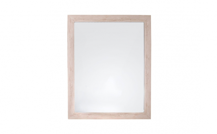 Oglinda de perete, rama lemn deschis