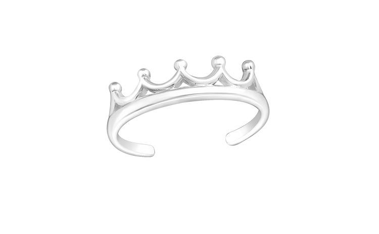 Inel de picior argint,  Coroana,
