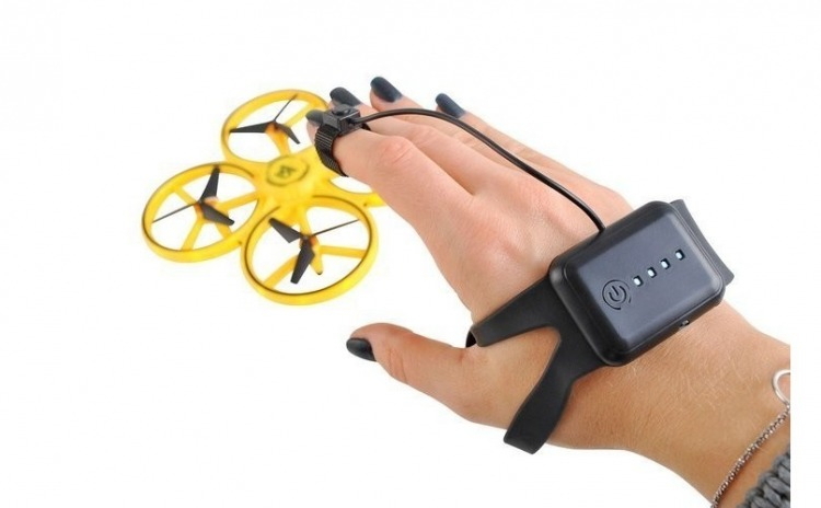 Drona Elicopter,Control prin Gesturi