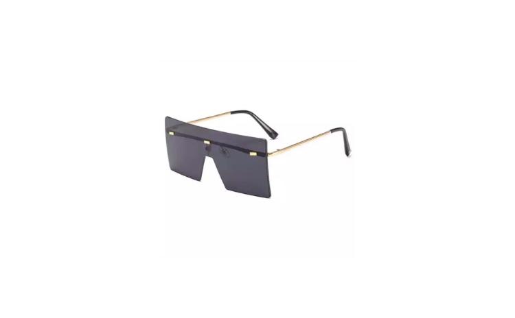 Ochelari Negri cu Aplicatie Decorativa
