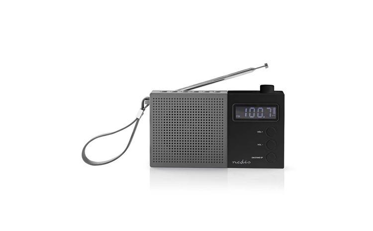Radio FM cu ceas si alarma 2.1 W gri