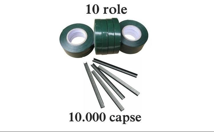 Set 10 role banda + 10.000 capse pentru aparat legat vita de vie si legume, la numai 45 RON redus de