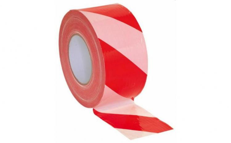 Banda delimitare alb rosu 5 x 200