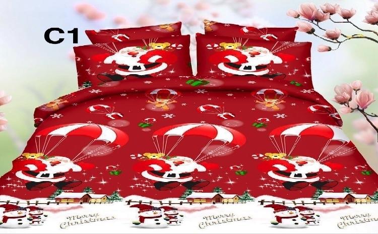 Lenjerie De Pat Christmas  Modele Vesele Pentru Sarbatorile De Iarna  La 129 Lei In Loc De 259 Lei! Garantie 12 Luni!