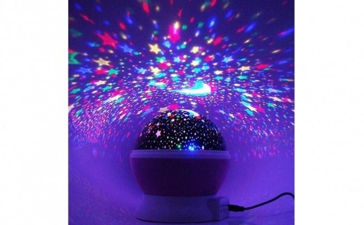 Lampa De Veghe Star Master Cu Proiector Stele Rotativ 360