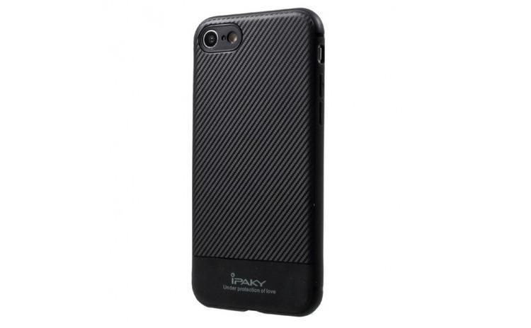 Husa Apple iPhone 7 IPAKY Carbon Fiber