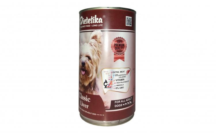Conserva caini dietetika cu ficat 415 gr