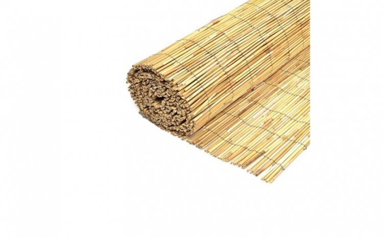 Gard, paravan bambus natural 2 m x 6 m