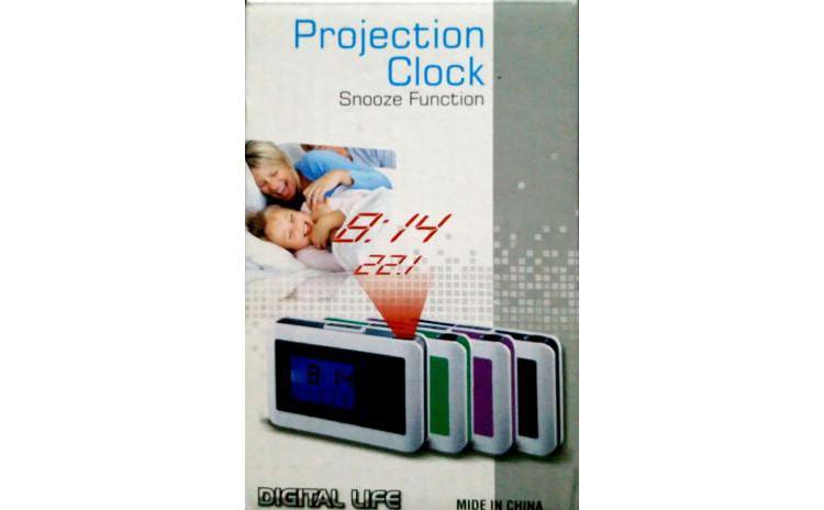 Ceas cu alarma si proiectie ora
