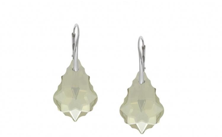Cercei Baroque Leverback Silver Shade