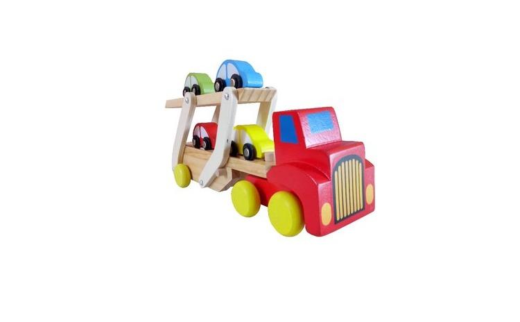 Camion transporter din lemn cu platforma