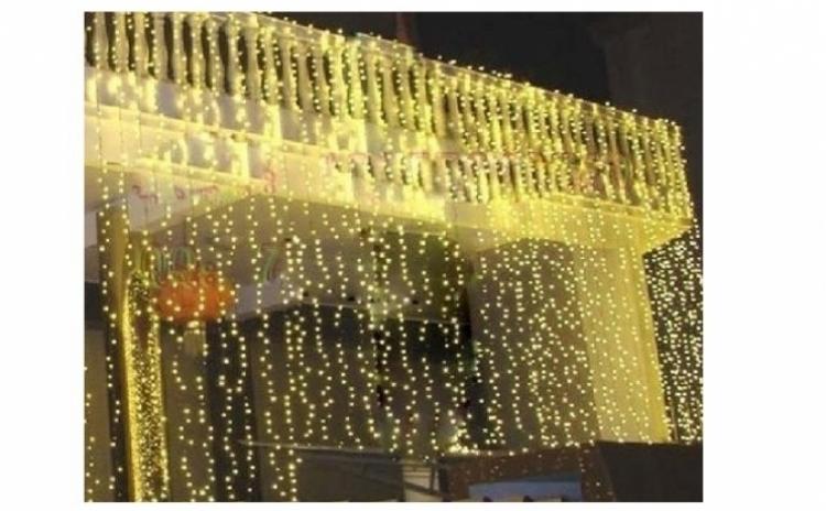 Perdea Luminoasa De Exterior Pentru Craciun, 3mx3m, 480 Leduri, Culoare Lumina Alb/rece, Interconectabila, La Doar 159 Ron In Loc De 260 Ron