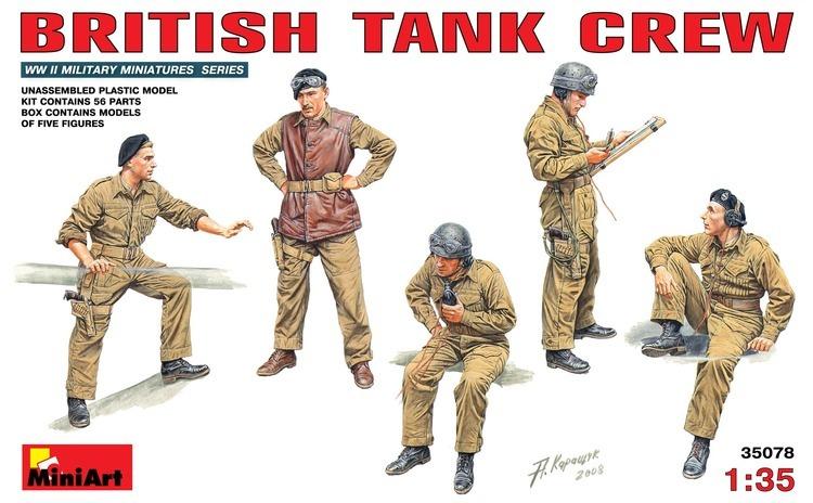 1:35 British Tank Crew - 5 figures 1:35
