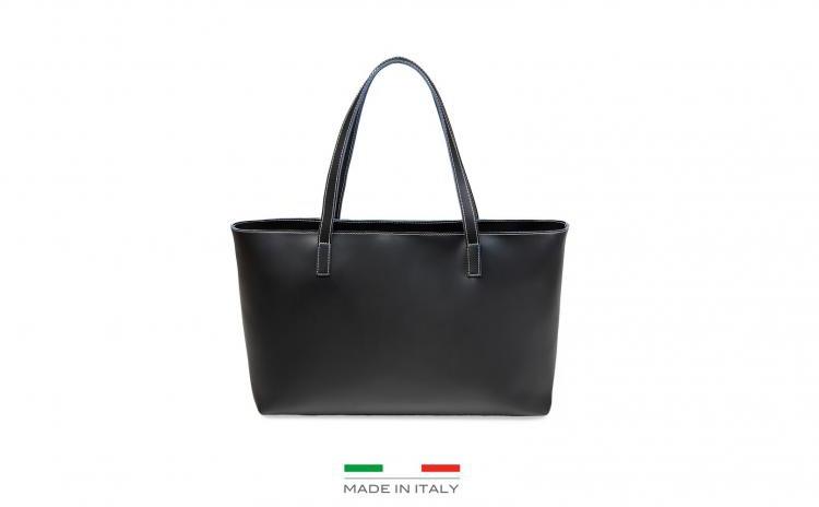 Geanta Originala Made In Italia - Nero Din Piele, La Doar 450 Ron In Loc De 1400 Ron