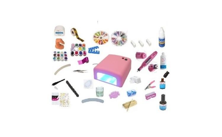 Mega Kit pentru constructie unghii cu gel + Cadou Set de 7 Pensule pentru aplicare gel
