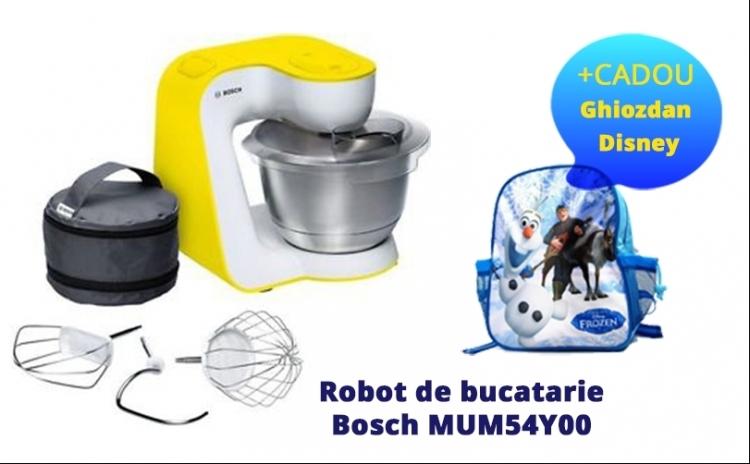 Robot De Bucatarie Bosch Mum54y00 + Cadou Un Ghiozdan Original Disney Frozen, La Pretul De 690 Ron In Loc De 987 Ron