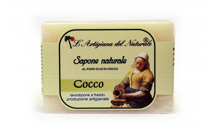 Sapun natural cu ulei de cocos, 100 g