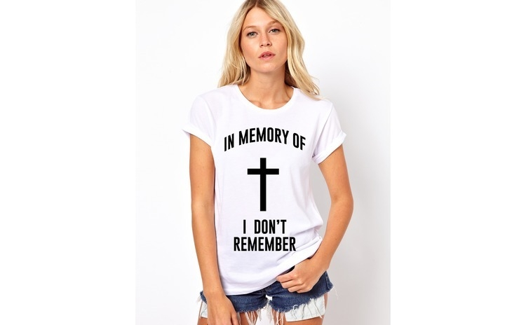 Tricou dama alb -  In memory