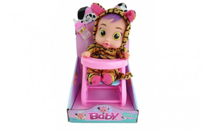 Bebelus Cry cu scaunel si accesorii