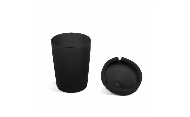 Scrumiera - neagra - 110 mm