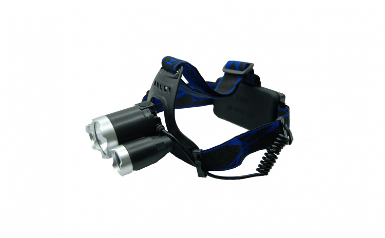 Lanterna frontala de cap, 3 x LED Cree