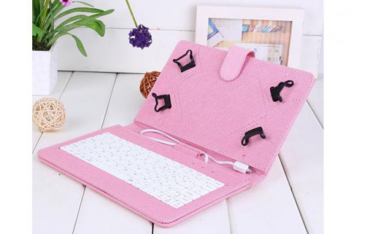 Imagine indisponibila pentru Husa tableta 8 inch cu tastatura micro usb model x , roz , tip mapa , prindere 4 cleme , protectie antisoc C11, la 40 RON in loc de 85 RON