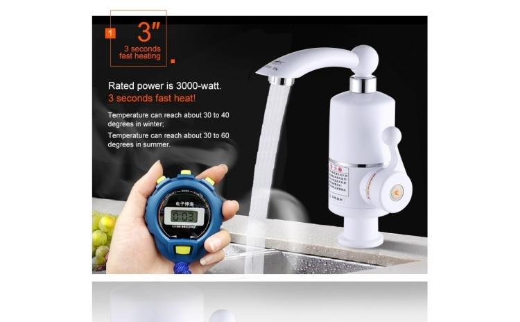 Robinet Electric: Apa calda de la robinet in doar 5 secunde