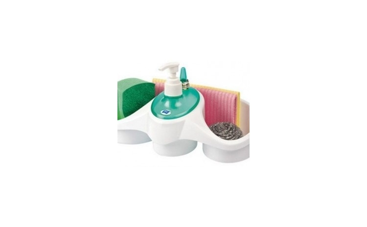 Imagine indisponibila pentru Dispenser detergent vase cu suport pentru burete, la doar 32 RON in loc de 69 RON