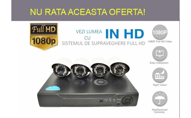 Sistem complet de Supraveghere Full HD