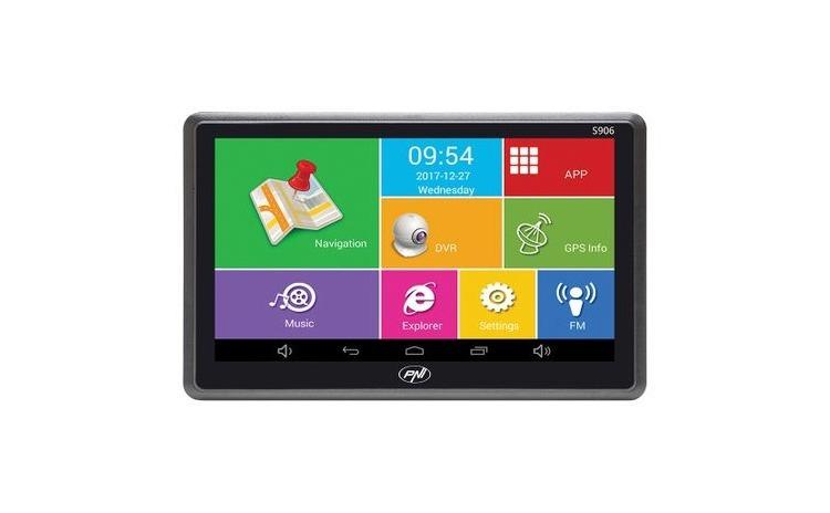 Navigatie GPS PNI S906 7 inch Android 6.0 harti incluse Waze cu radare