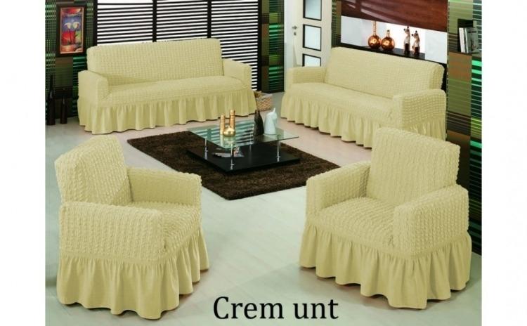 Set huse pentru canapea 4 piese - 1 husa pentru canapea de 3 locuri, 1 husa canapea de 2 locuri si 2 huse pentru fotolii
