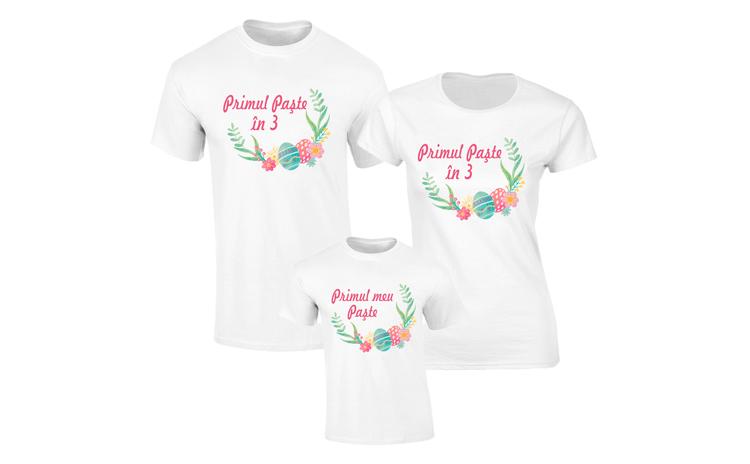 Set de tricouri albe pentru Primul