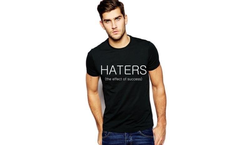 Tricou negru barbati - Haters