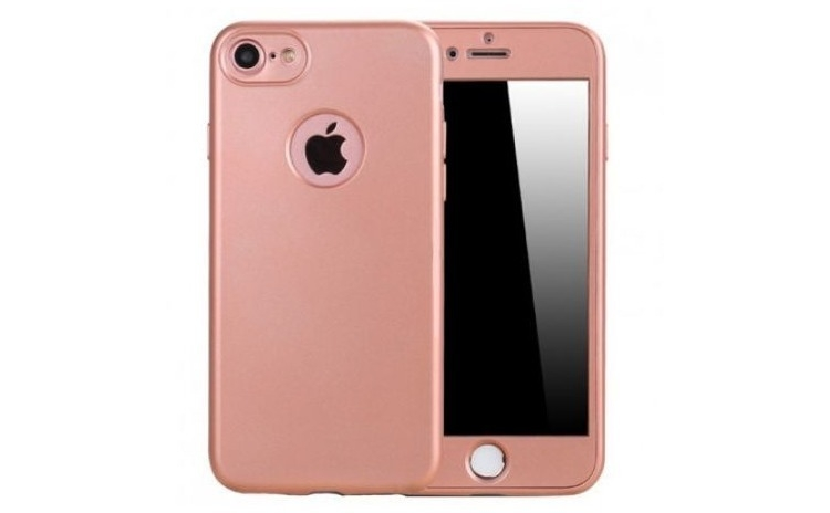 Husa 360 Silicon Iphone 6 / 6S Roz-Auriu