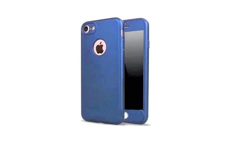 Husa 360 Silicon iPhone 6 Plus, Albastru