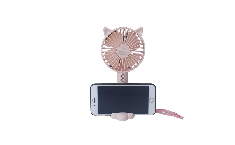 Mini ventilator-suport telefon, Roz