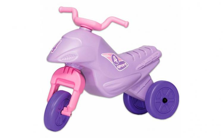 Motocicleta tip tricicleta  mov cu roz