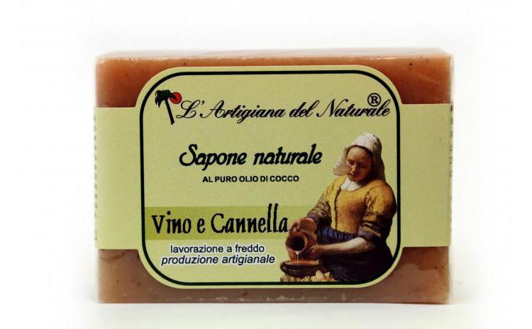 Sapun natural cu vin si scortisoara