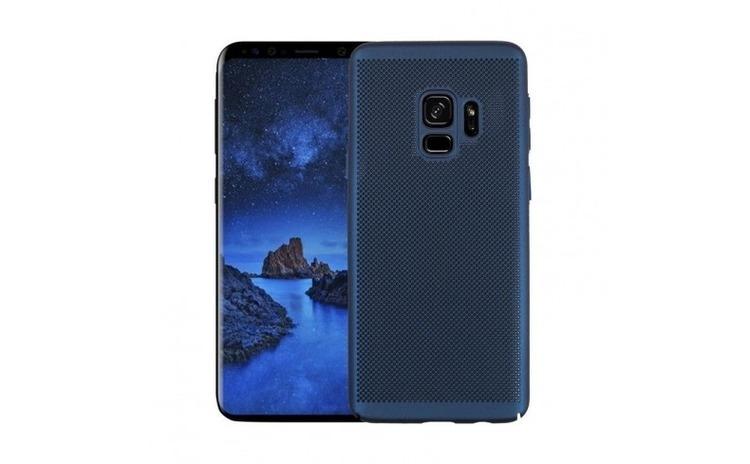 Husa Samsung Galaxy S9 Flippy Ultra Slim cu aerisire Albastru