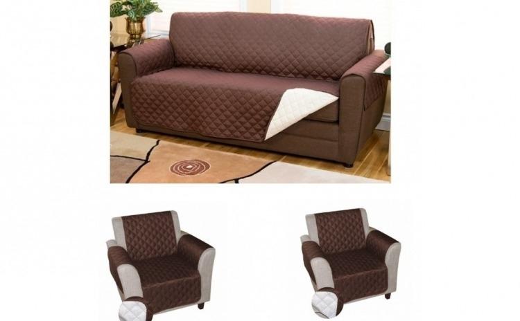 Husa de protectie pentru canapea 2 persoane + 2 huse fotoliu