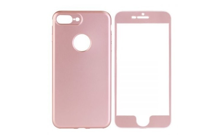 Husa 360 Silicon iPhone 6 Plus Roz-Auriu