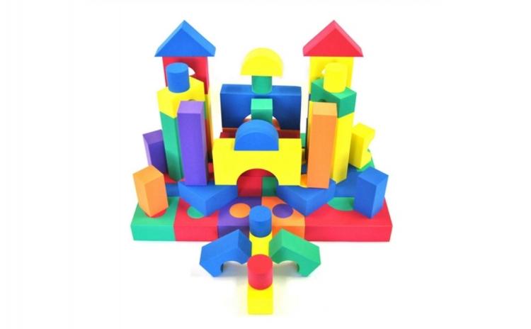 Set 50 cuburi constructie din burete