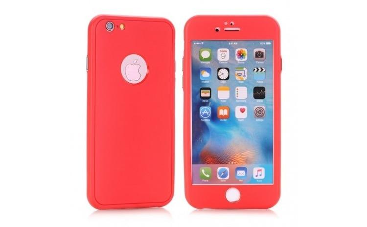 Husa Apple iPhone 6/6S Flippy Full Silicone Rosu