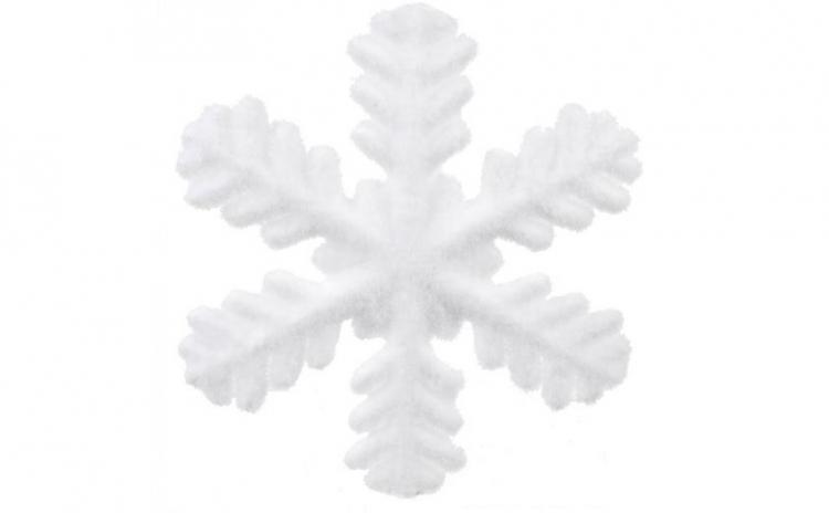 Ornament de brad Craciun fulg de zapada
