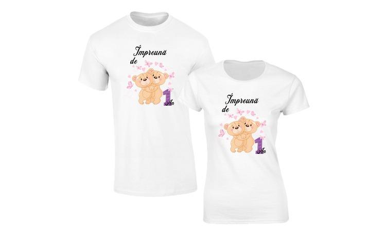 Set de tricouri pentru Cuplu  Impreuna