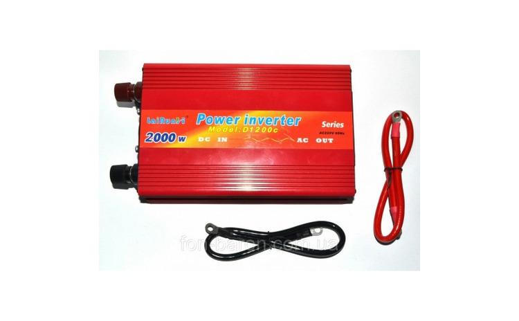Invertor tensiune 12V-220V Lairun, 2000