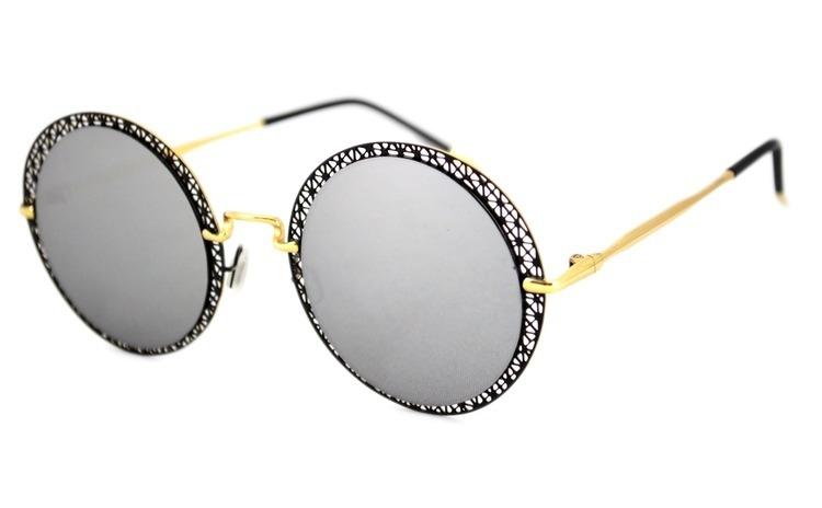 Ochelari de soare Rotunzi Gri Oglinda