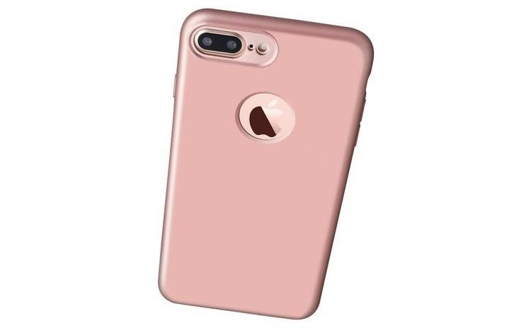 Husa 360 Silicon iPhone 7 Plus Rose Gold