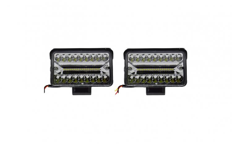 Set 2 proiectoare LED, 126W