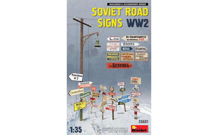 1:35 Soviet Road Signs WW2 1:35